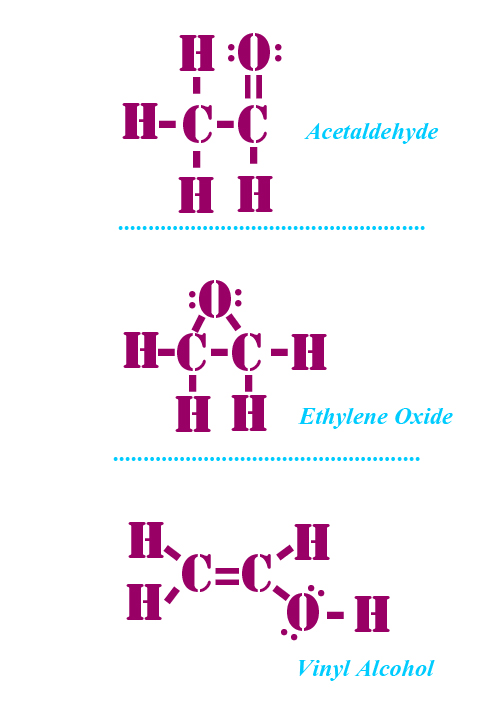 Lewis structure of C2H4O:Biochemhelp C2h4o Lewis Structure