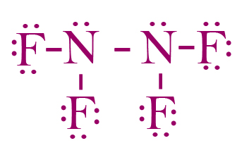 F Lewis Dot Structure Lewis structure of N2F...