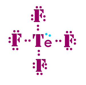 TeF4 lewis dot structure