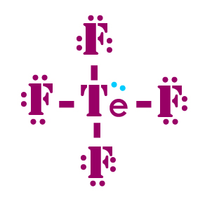 TeF4 lewis structure